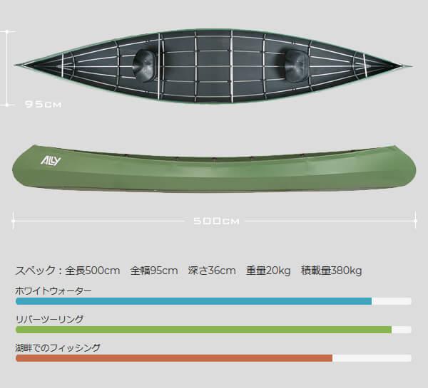 アリー フォールディングカヌーガイド Ally Canoe Guide